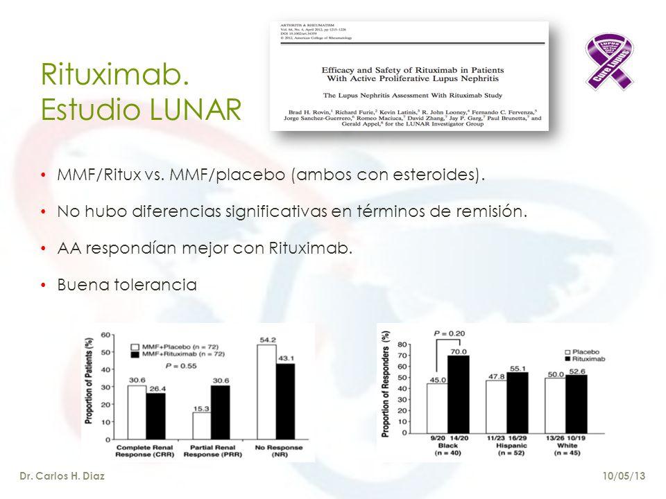 Rituximab.Estudio LUNAR Dr. Carlos H. Diaz MMF/Ritux vs.