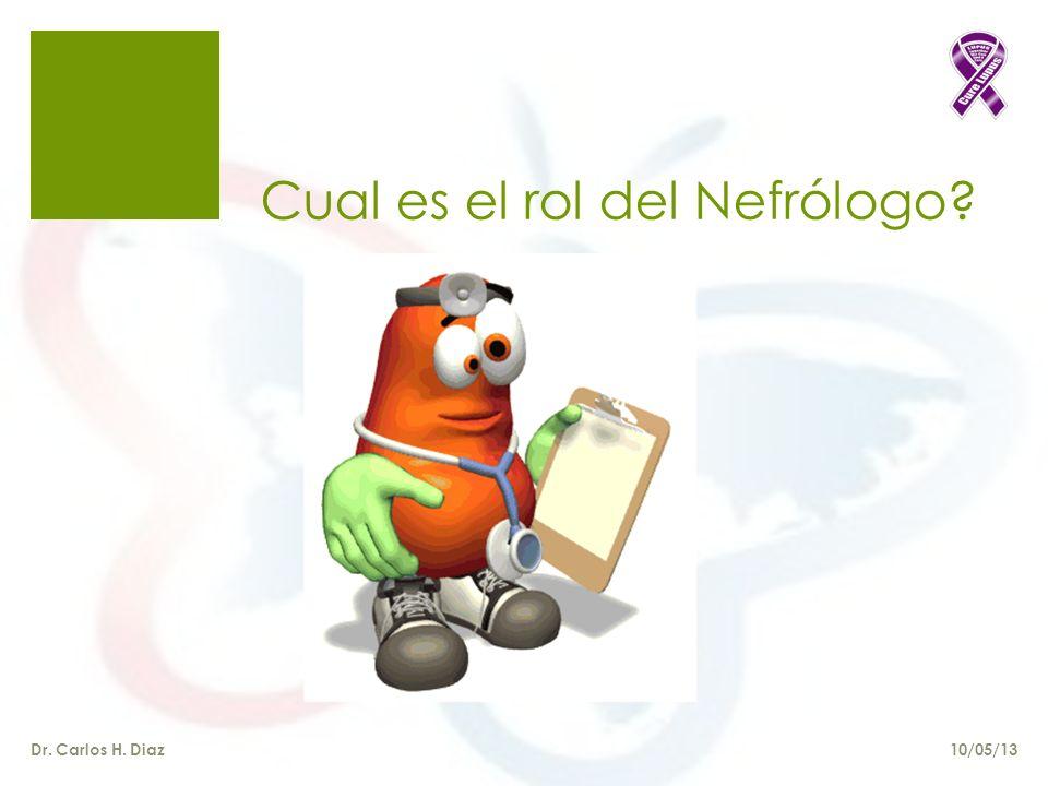 Cual es el rol del Nefrólogo? Dr. Carlos H. Diaz10/05/13