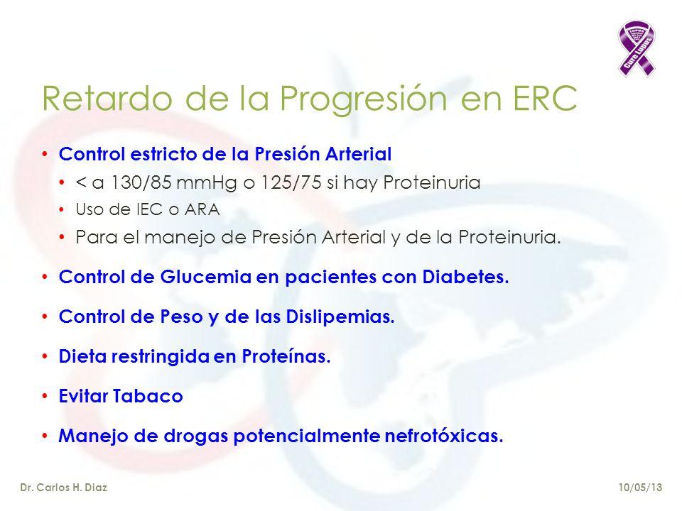Retardo de la Progresión en ERC Dr.Carlos H.