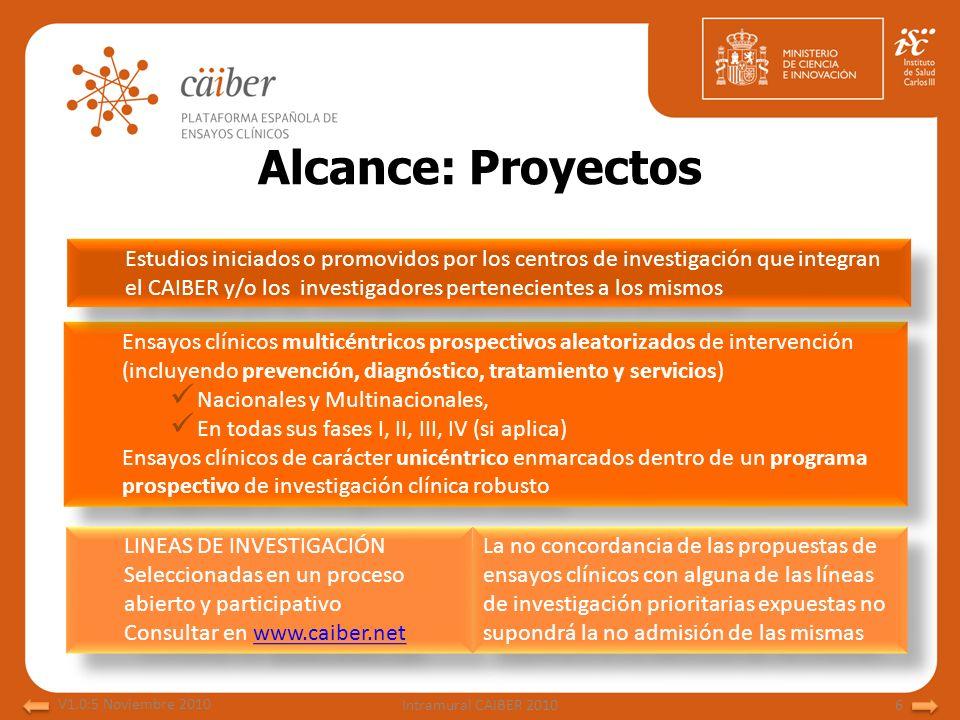 Alcance: Proyectos Ensayos clínicos multicéntricos prospectivos aleatorizados de intervención (incluyendo prevención, diagnóstico, tratamiento y servi