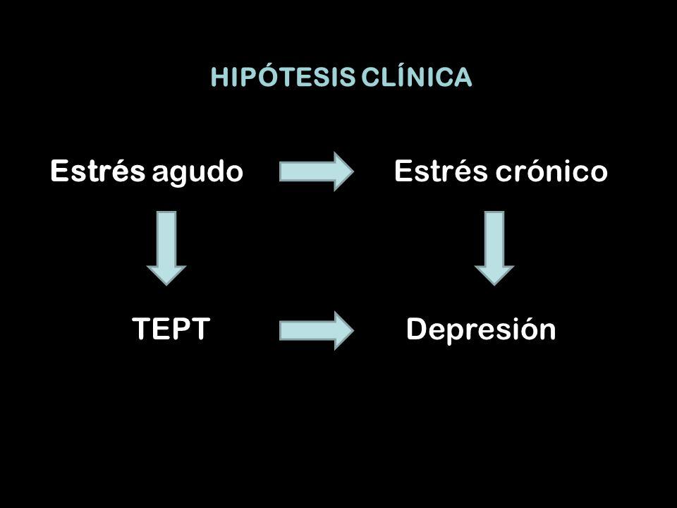 Estrés agudo Estrés crónico TEPT Depresión HIPÓTESIS CLÍNICA