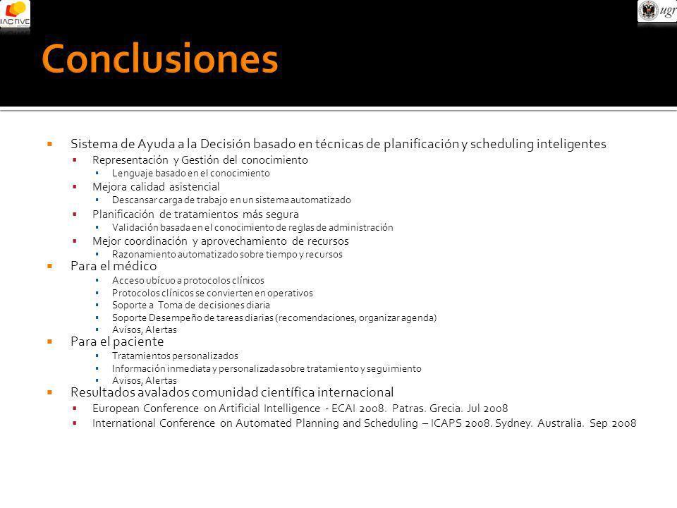 Sistema de Ayuda a la Decisión basado en técnicas de planificación y scheduling inteligentes Representación y Gestión del conocimiento Lenguaje basado