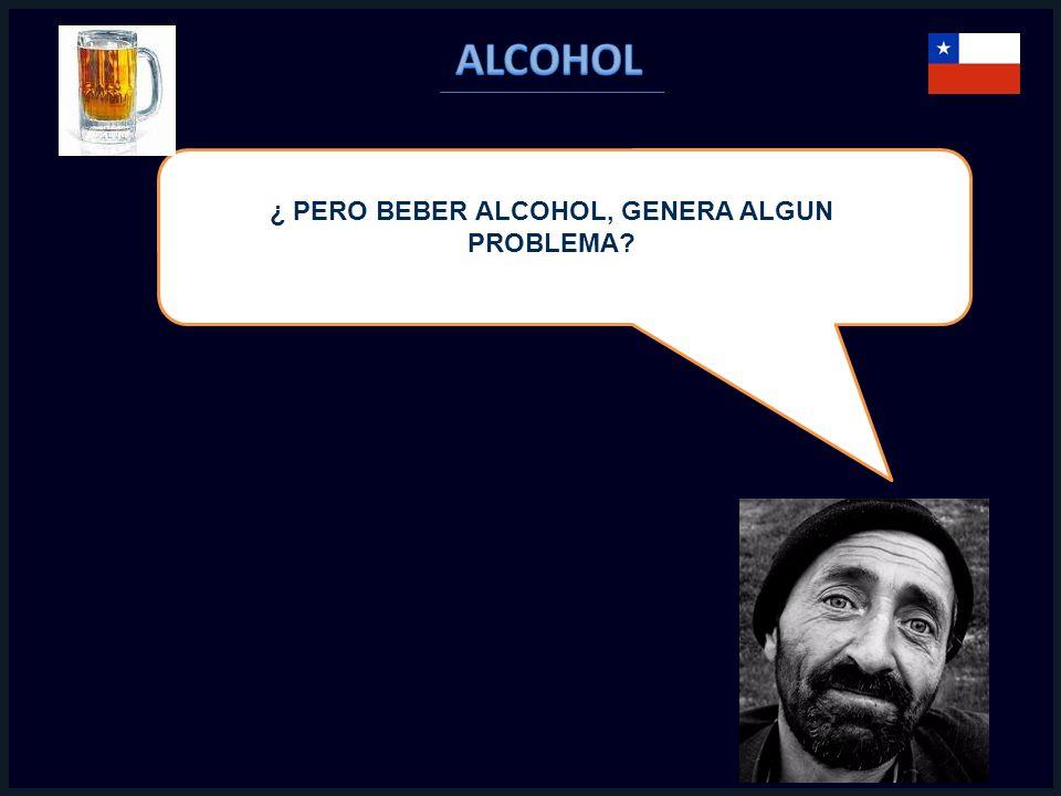¿ PERO BEBER ALCOHOL, GENERA ALGUN PROBLEMA?