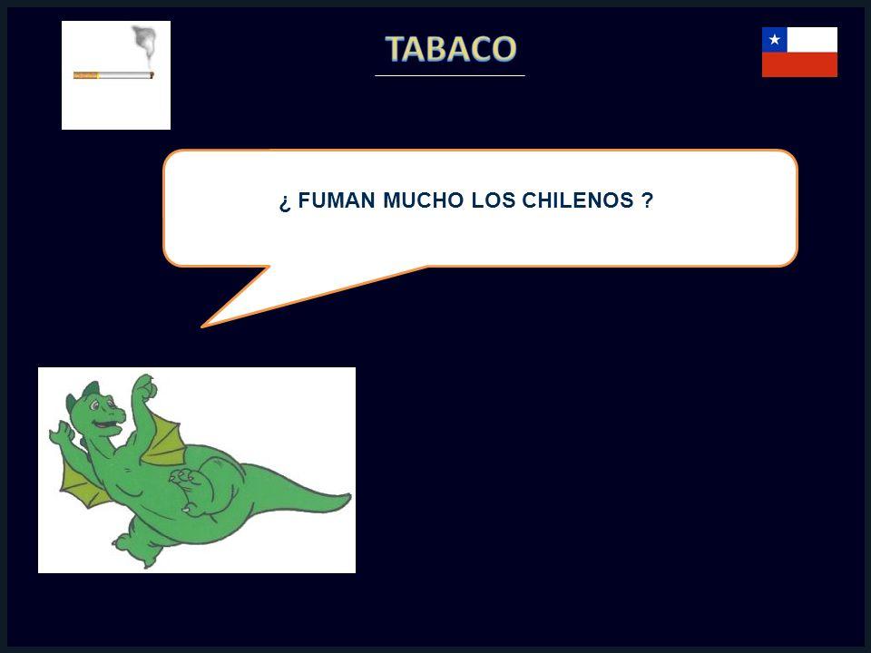 ¿ FUMAN MUCHO LOS CHILENOS