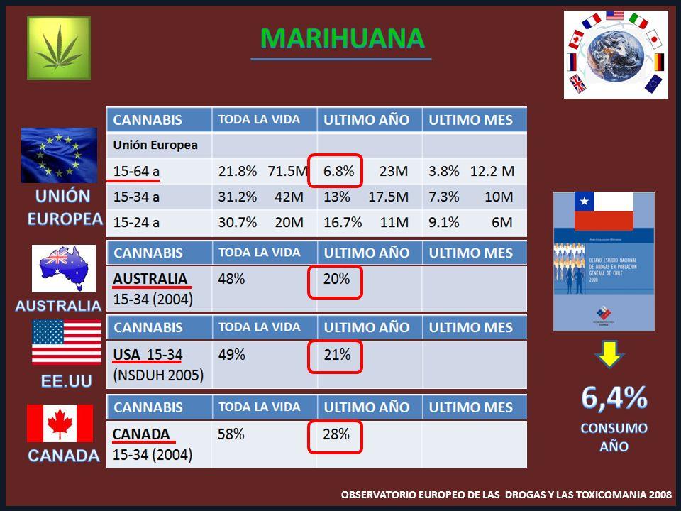 OBSERVATORIO EUROPEO DE LAS DROGAS Y LAS TOXICOMANIA 2008