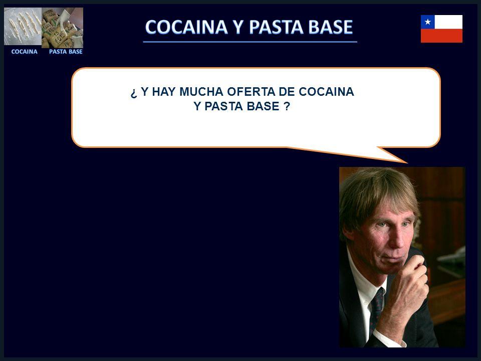 ¿ Y HAY MUCHA OFERTA DE COCAINA Y PASTA BASE ?