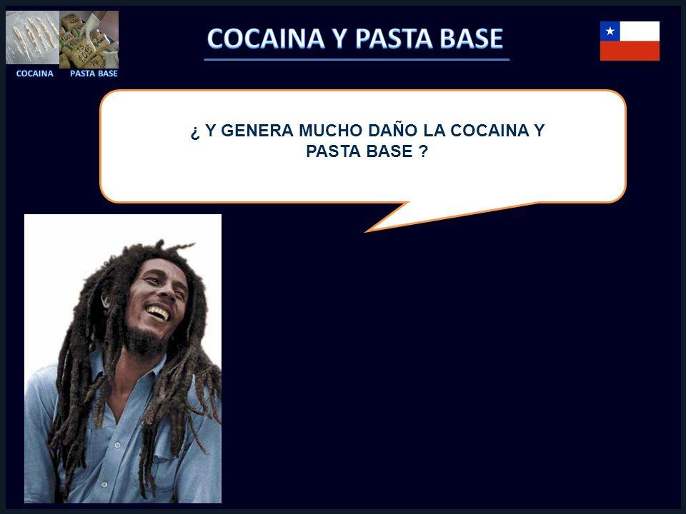 ¿ Y GENERA MUCHO DAÑO LA COCAINA Y PASTA BASE ?
