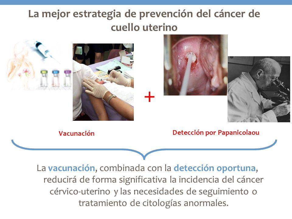 La vacunación, combinada con la detección oportuna, reducirá de forma significativa la incidencia del cáncer cérvico-uterino y las necesidades de segu