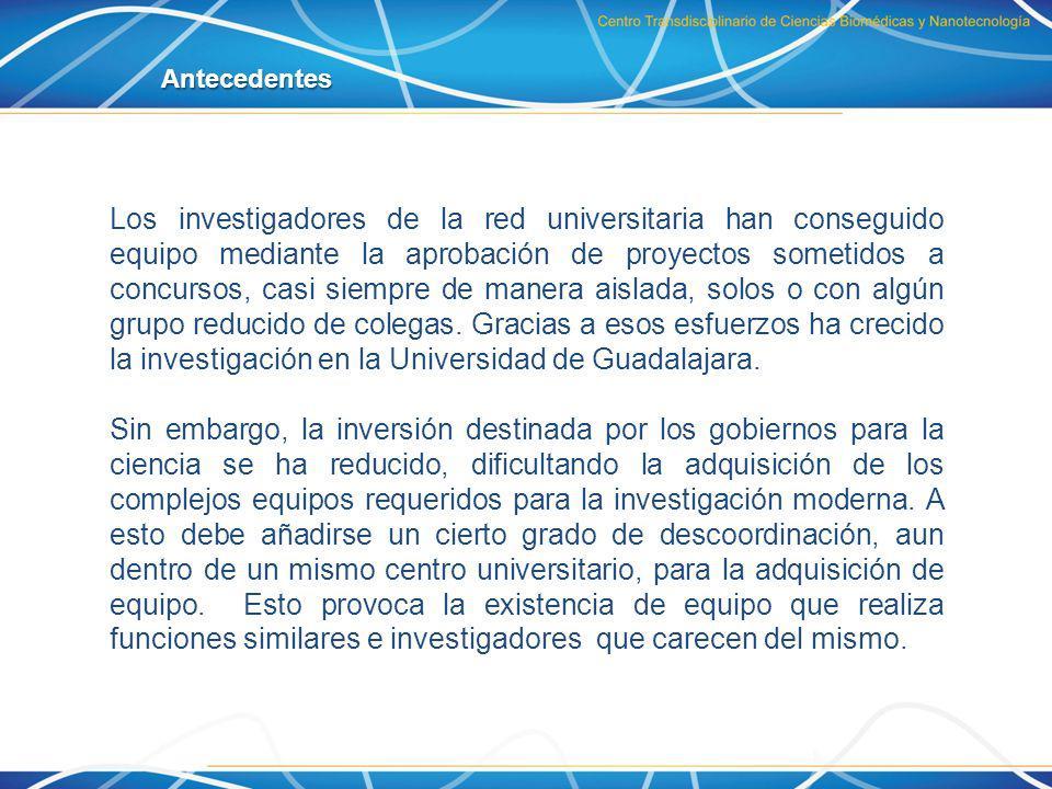 También hay grupos de investigación cuyo trabajo, por ahora, depende del apoyo brindado por la UNAM, la UAM, el IPN, o el IPICyT para caracterizar y analizar muestras.