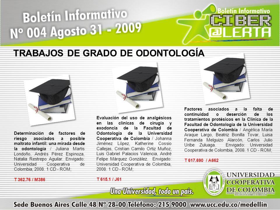Evaluación del uso de analgésicos en las clínicas de cirugía y exodoncia de la Facultad de Odontología de la Universidad Cooperativa de Colombia / Joh
