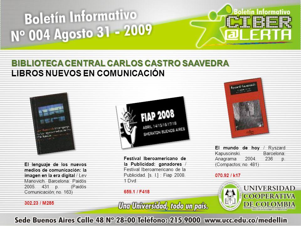 El lenguaje de los nuevos medios de comunicación: la imagen en la era digital / Lev Manovich. Barcelona: Paidós 2005. 431 p. (Paidós Comunicación; no.