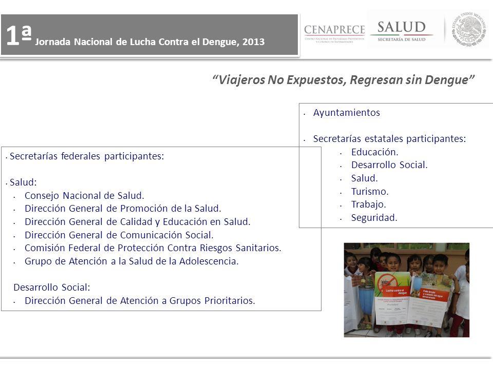 Ayuntamientos Secretarías estatales participantes: Educación. Desarrollo Social. Salud. Turismo. Trabajo. Seguridad. Secretarías federales participant