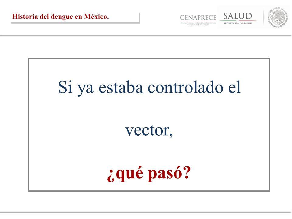 Si ya estaba controlado el vector, ¿qué pasó? Historia del dengue en México.