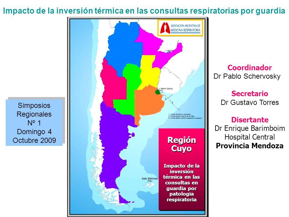 Impacto de la inversión térmica en las consultas respiratorias por guardia Estudio Preliminar BARIMBOIM, E.