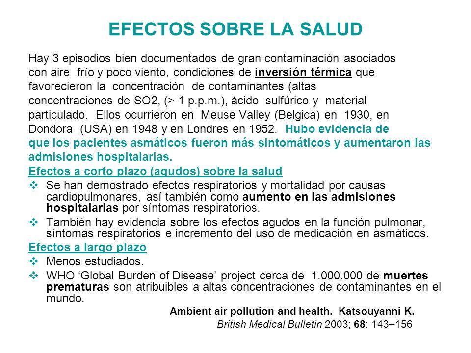 Current Opinion in Pulmonary Medicine 2009, 15:150–157 Contaminantes habituales y sus efectos sobre el EPOC
