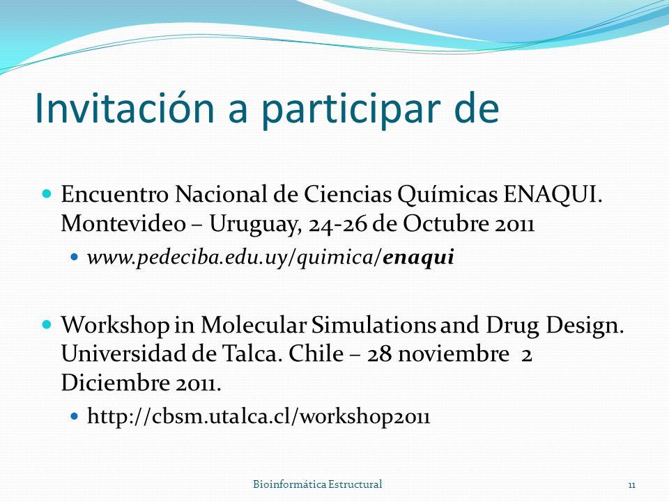Invitación a participar de Encuentro Nacional de Ciencias Químicas ENAQUI.