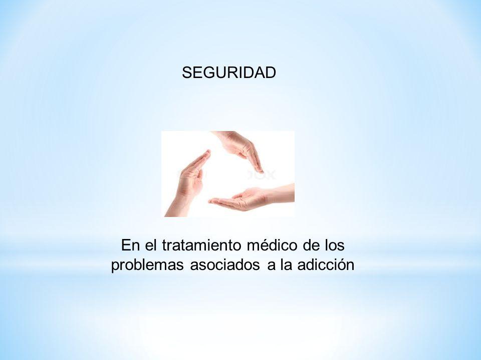 SEGURIDAD En el tratamiento médico de los problemas asociados a la adicción