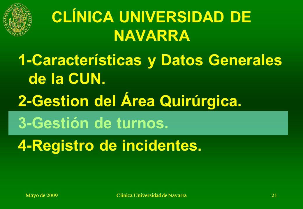 Mayo de 2009Clínica Universidad de Navarra20