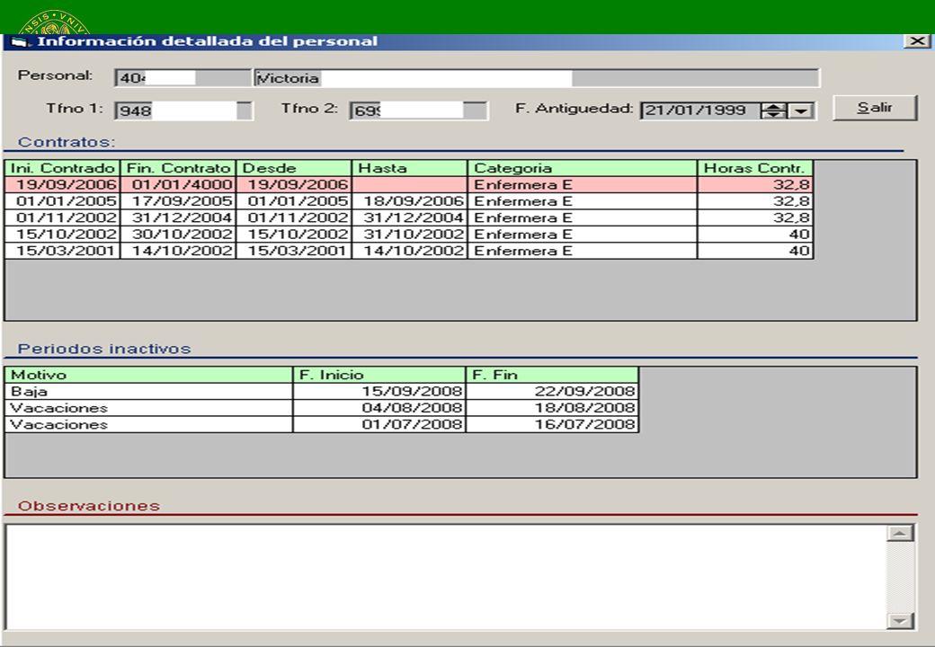 Mayo de 2009Clínica Universidad de Navarra23 Calendario y flechas de avance Vacaciones y ausencias Calendario laboral Información detallada del trabaj