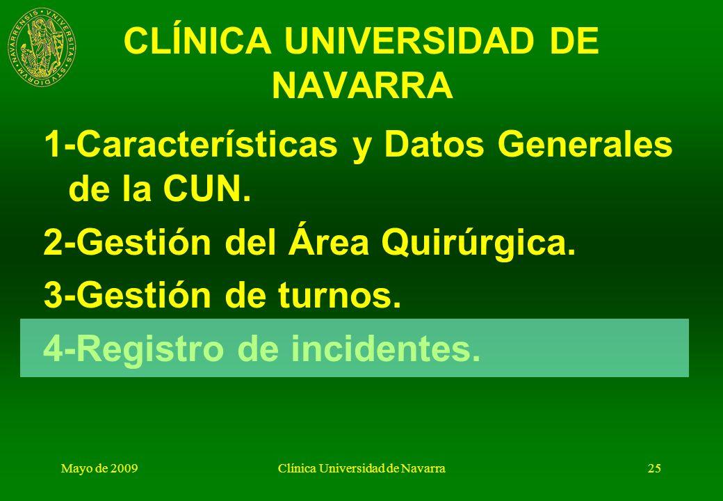 Mayo de 2009Clínica Universidad de Navarra24