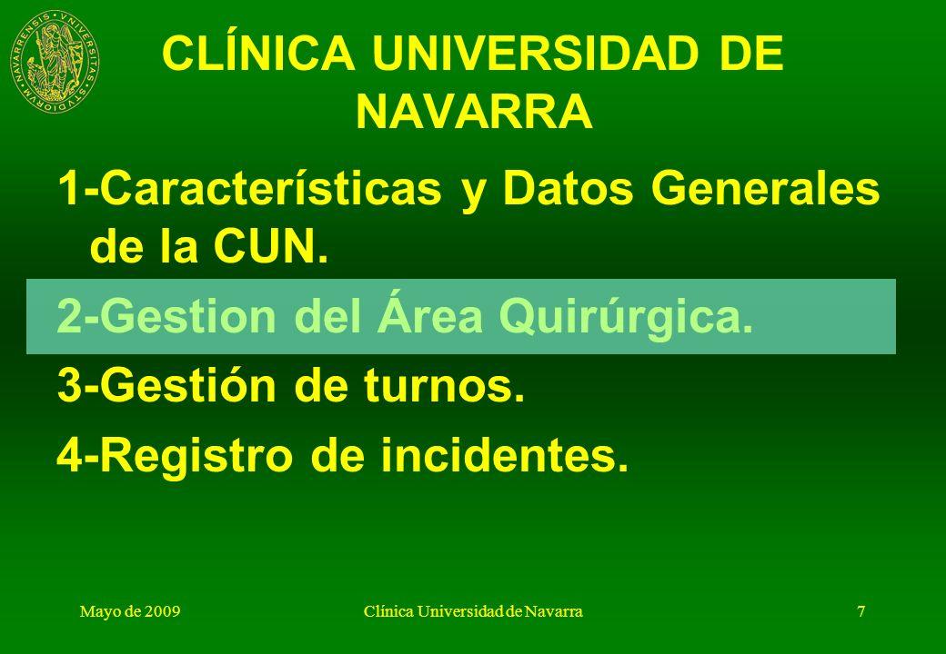 Mayo de 2009Clínica Universidad de Navarra6 Área Quirúrgica