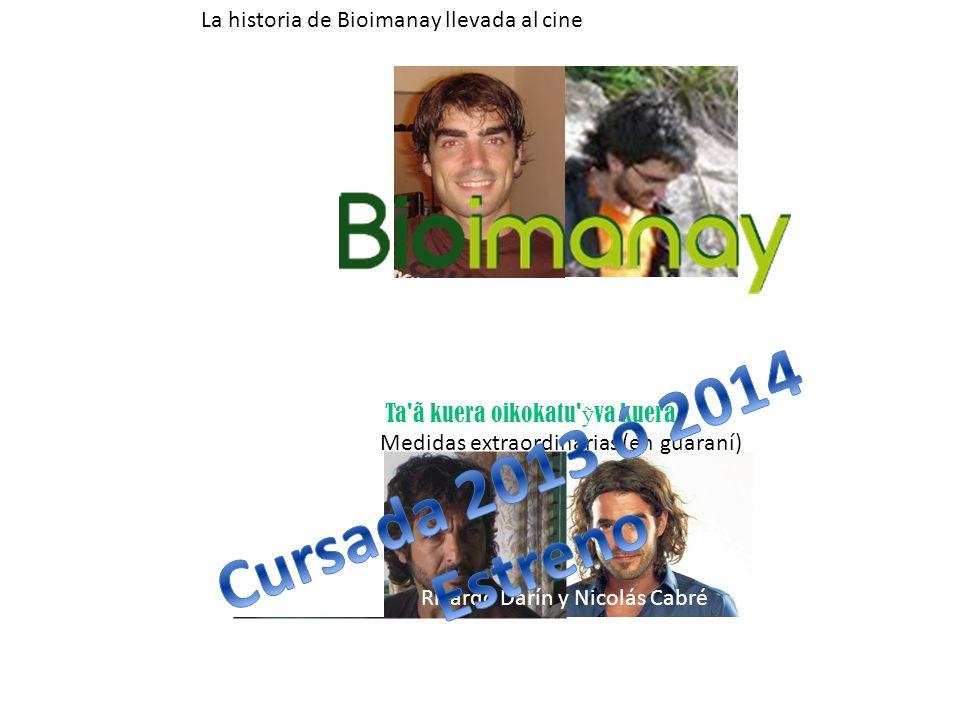 Ta'ã kuera oikokatu' va kuera Medidas extraordinarias (en guaraní) Ricardo Darín y Nicolás Cabré La historia de Bioimanay llevada al cine