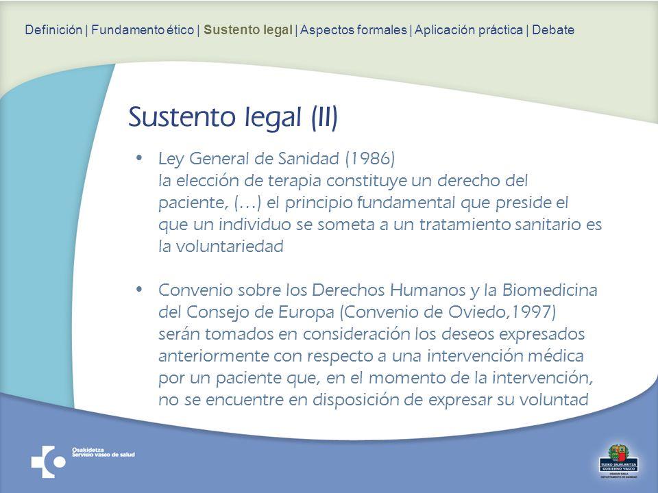 Ley General de Sanidad (1986) la elección de terapia constituye un derecho del paciente, (…) el principio fundamental que preside el que un individuo