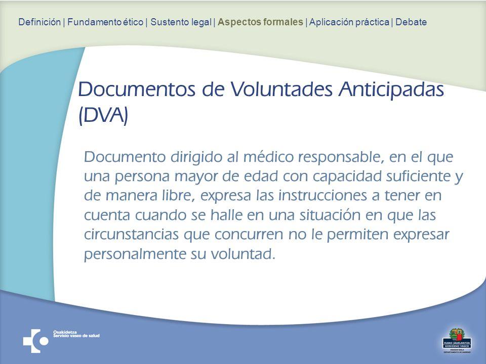 Documento dirigido al médico responsable, en el que una persona mayor de edad con capacidad suficiente y de manera libre, expresa las instrucciones a