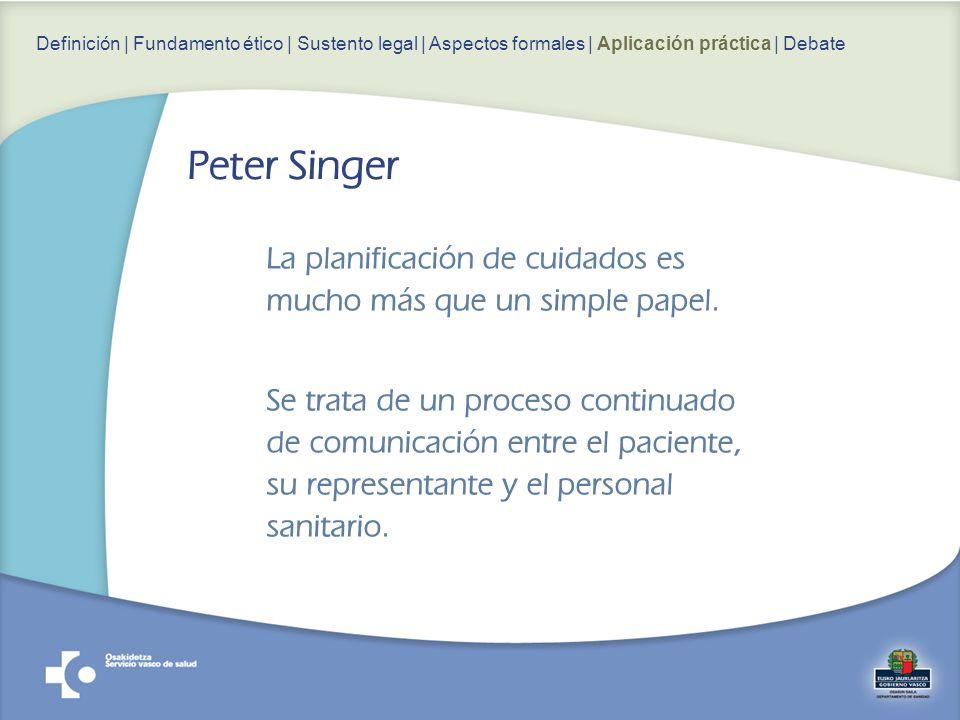La planificación de cuidados es mucho más que un simple papel. Se trata de un proceso continuado de comunicación entre el paciente, su representante y
