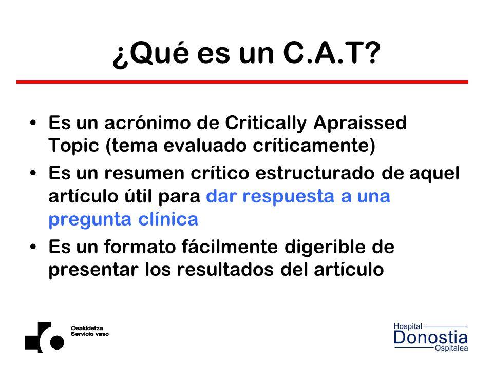 ¿Qué es un C.A.T.