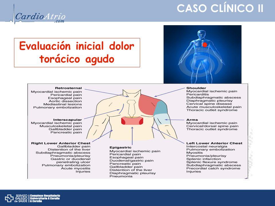 CASO CLÍNICO II Tratado de cardiología, Braunwald et al.