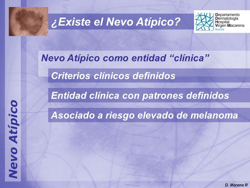 Nevo Atípico Nevo Atípico como entidad clínica Criterios clínicos definidos Entidad clínica con patrones definidos Asociado a riesgo elevado de melano