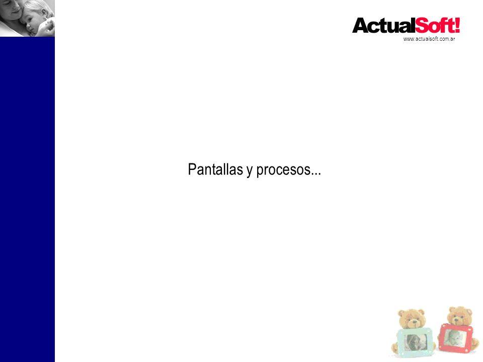Pantallas y procesos...