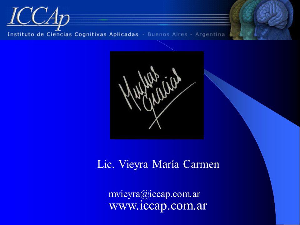 Lic. Vieyra María Carmen mvieyra@iccap.com.ar www.iccap.com.ar