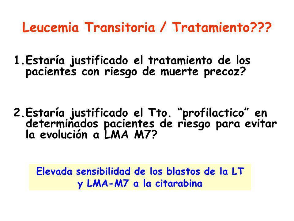 Leucemia Transitoria / Tratamiento??.