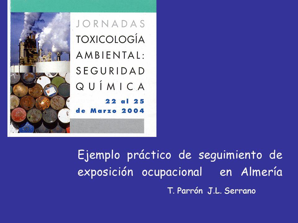 Ejemplo práctico de seguimiento de exposición ocupacional en Almería T. Parrón J.L. Serrano
