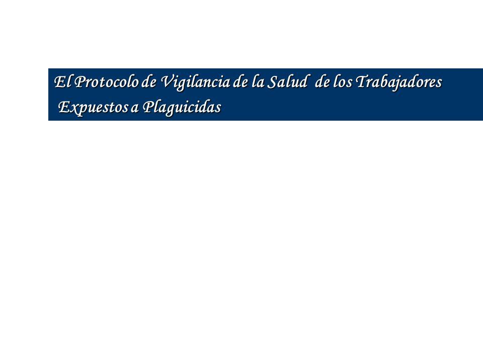 El Protocolo de Vigilancia de la Salud de los Trabajadores Expuestos a Plaguicidas Expuestos a Plaguicidas