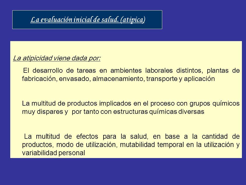 La atipicidad viene dada por: El desarrollo de tareas en ambientes laborales distintos, plantas de fabricación, envasado, almacenamiento, transporte y
