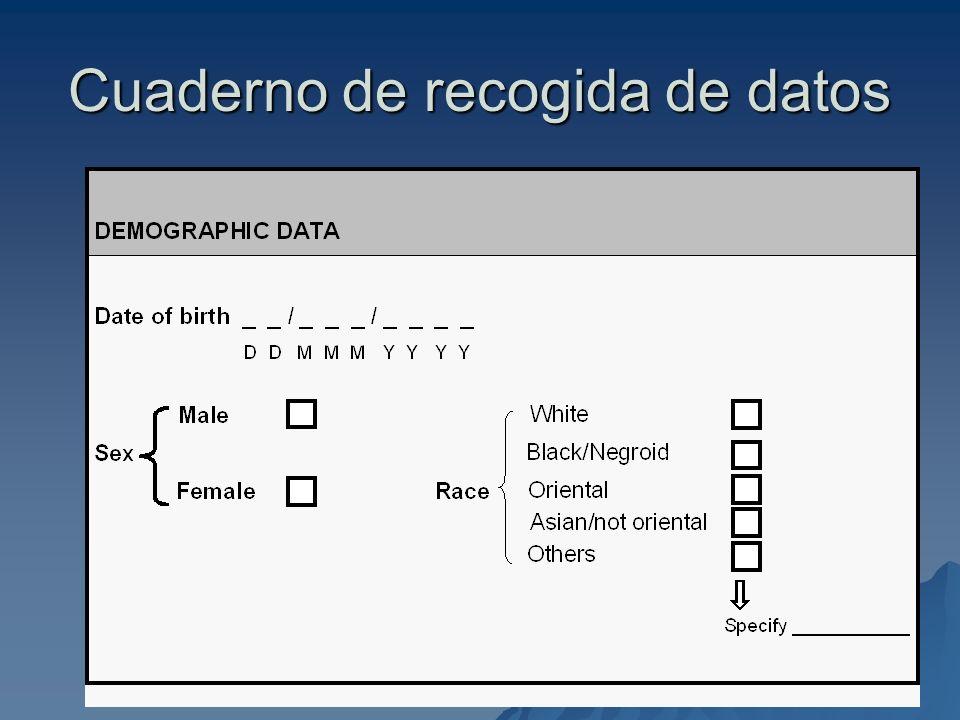 Ferran.Torres@uab.es 37 Cuaderno de recogida de datos