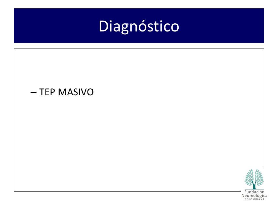 – TEP MASIVO Diagnóstico