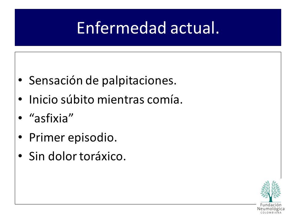 Trombolisis con estreptokinasa.Sin complicaciones.