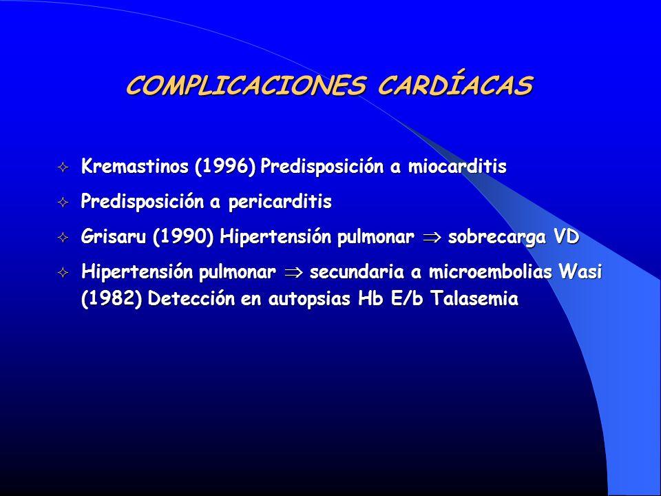 Kremastinos (1996) Predisposición a miocarditis Kremastinos (1996) Predisposición a miocarditis Predisposición a pericarditis Predisposición a pericar