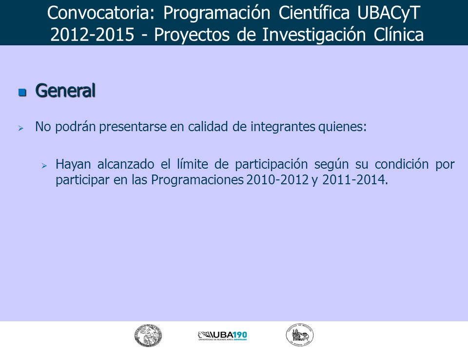 General General EXCEPCIONES Se admitirán presentaciones de interinos en las categorías docentes debidamente fundamentadas.
