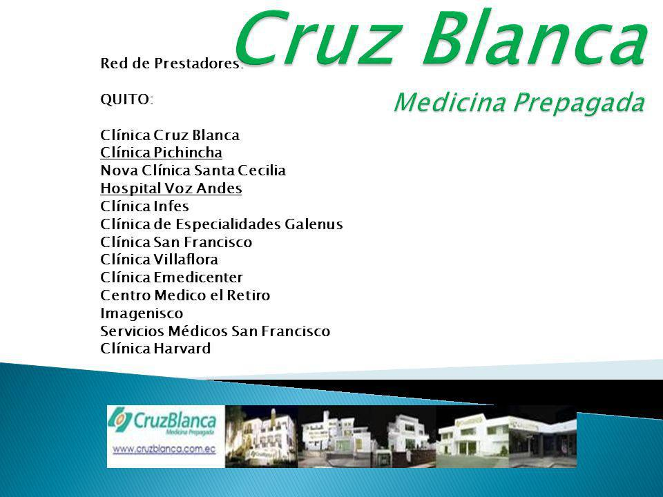 Clínica Cruz Blanca brinda: Atención de Emergencia 24 horas / 365 días al año. Chequeos preoperatorios. Cirugías ambulatorias. Hospitalizaciones clíni
