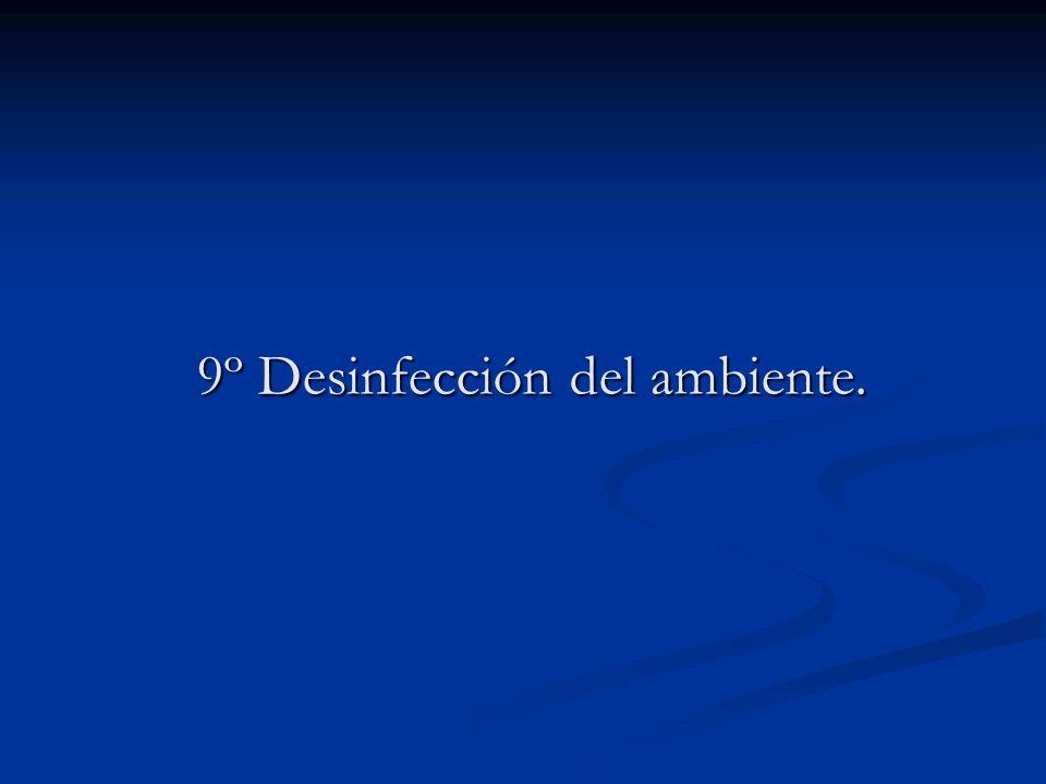 9º Desinfección del ambiente.