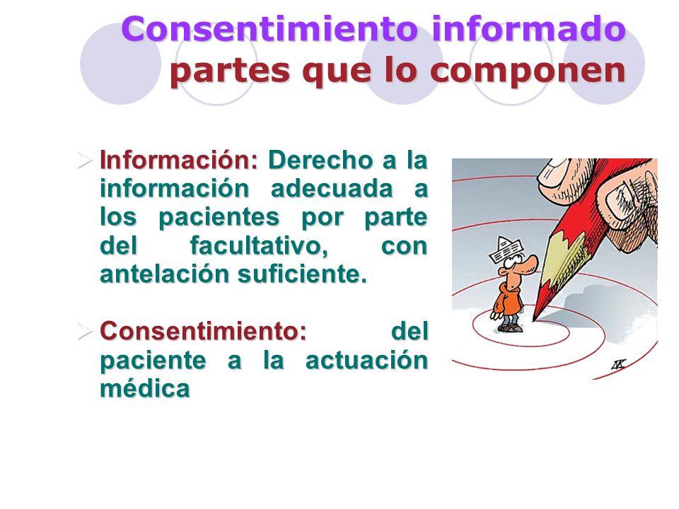 Consentimiento informado los límites Excepciones al consentimiento: Existe renuncia del paciente: derecho a no ser informado (art.