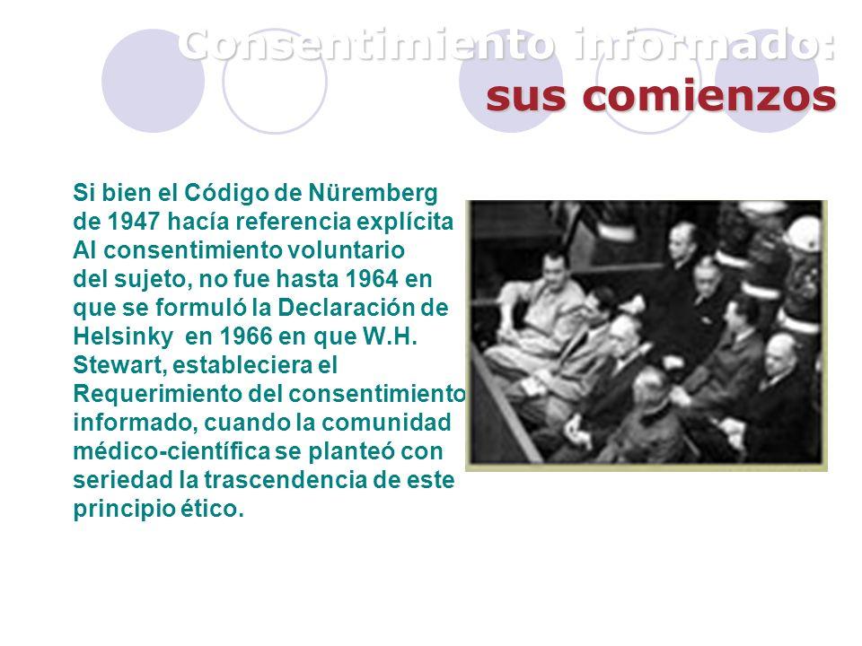Consentimiento informado 2.- información Información suficiente: Efectos previsibles de la no realización de ninguno de los procedimientos posibles.