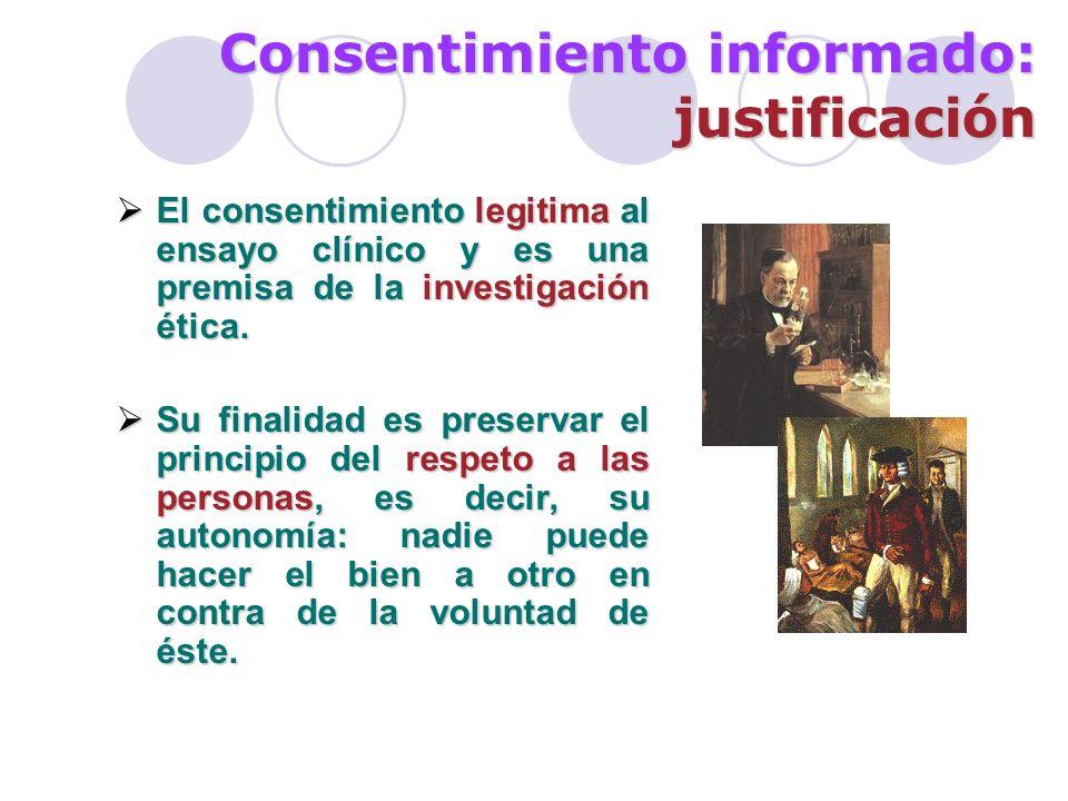 Consentimiento informado: justificación (…y 2) Como la relación médico- paciente es una relación fiduciaria (contrato basado en la confianza), se genera la obligación de dar información.