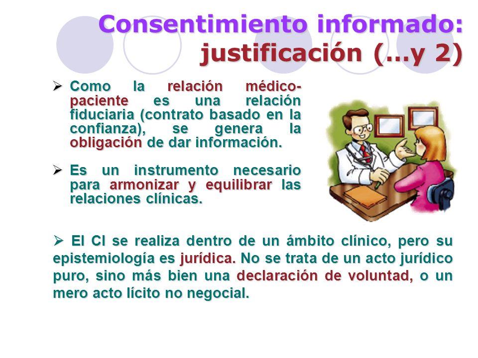 Consentimiento informado: la realidad Se utiliza como fórmula para solicitar permiso a personas expuestas a actos médicos, respetando la dignidad individual.