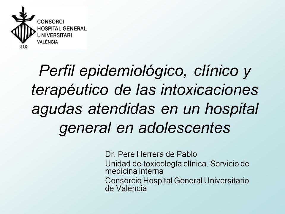 Conclusiones El perfil del paciente adolescente que acude a un servicio de urgencias podría ser el de un chic@ de 17 años con estudios primarios que vive con su familia en el área metropolitana de Valencia.